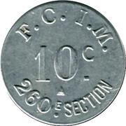 10 Centimes - F.C.I.M 260e Section Salins les Bains 39 – reverse