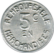 5 Centimes - Pau 64 – reverse