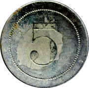 5 Centimes - Nouvelles galeries (Saintes) – reverse