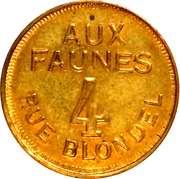 Token - Aux Faunes (Paris) – reverse
