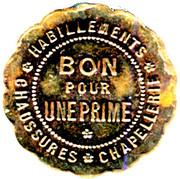 Token - Bon pour une Prime - Grands Magasins Aux Buttes Chaumont (Paris) – reverse