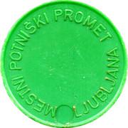 Token - LPP (Urban bus transport; green) – reverse