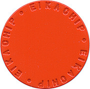 Shopping Cart Token - Eikachip (Orange) – reverse
