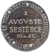 Token Collection BP - Le Trésor des Monnaies Anciennes (№3 - Auguste Sesterce) – reverse