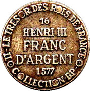 Token Collection BP - Le Trésor des Rois de France (№16 - Henri III) – reverse