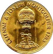 Shell Token - Man In Flight (Etienne & Joseph Montgolfier 1783) – obverse