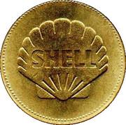 Shell Token - Man In Flight (Louis Bleriot) – reverse