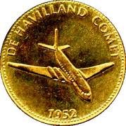 Shell Token - Man In Flight (De Havilland Comet) – obverse