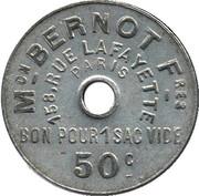 50 Centimes - Bon pour un sac vide (Paris) – reverse