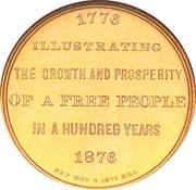 Dollar - U.S. Centennial Exposition (Art Gallery Building) – reverse