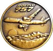 Token - Boeing 757 rollout – obverse