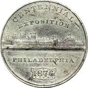 Dollar - U.S. Centennial Exposition (Building) – obverse