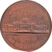 Dollar - U.S. Centennial Exposition (Art Gallery Building) – obverse