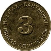 Token - Halifax Dartmouth Bridge Commission (3) – reverse