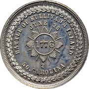 Dollar - George Hampden Lovett (Battle of Sullivan's Island) – reverse