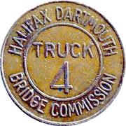 4 Truck Token - Halifax Dartmouth Bridge Commission (Dartmouth, Nova Scotia) – obverse
