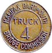 4 Truck Token - Halifax Dartmouth Bridge Commission (Dartmouth, Nova Scotia) – reverse