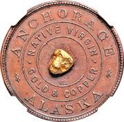 Token - Anchorage Alaska (Native Virgin Gold and Copper) – obverse