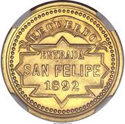 Token - San Felipe Railroad – reverse