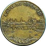 Token - Louis XIV (La Ville de Paris) – reverse