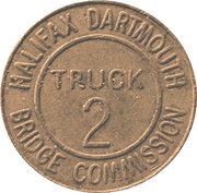 2 Truck Token - Halifax Dartmouth Bridge Commission (Dartmouth, Nova Scotia) – obverse