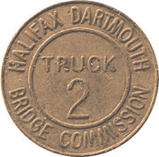 2 Truck Token - Halifax Dartmouth Bridge Commission (Dartmouth, Nova Scotia) – reverse