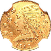 Dollar - British Columbia Gold (Indian head) – obverse