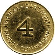 Token - Halifax Dartmouth Bridge Commission (4) – reverse