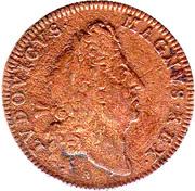 jeton royal louis XIV * FIDELIS * SEMPERQUE * PARATA * 1698 – obverse