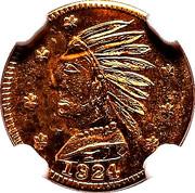 Dollar - British Columbia Gold (Indian head) – obverse