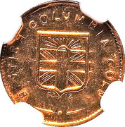 Dollar - British Columbia Gold (Indian head) – reverse