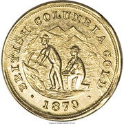 Dollar - British Columbia Gold (Miners) – obverse