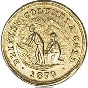 Dollar - British Columbia Gold (Miners) – obverse
