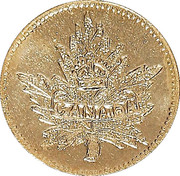 Dollar - British Columbia Gold (Maple leaf) – obverse