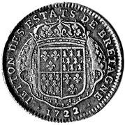 Jeton des états de Bretagne 1722 Nantes – reverse