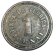 Wage Token - 1 Jornal Finca La Florida Coffee – obverse