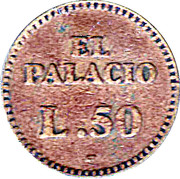 50 Lempiras - Casino El Palacio – reverse