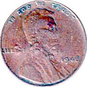 1 Cent USA (United Fruit Countermark) – reverse