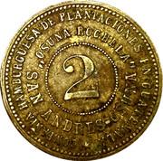 2 Peso - Guatemala Osuna Rochela (harvester token) – reverse