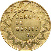 Token - Bank of Mexico – obverse