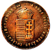 Medallion - Coronation of Franz Joseph – obverse
