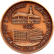 100 years of the Kanizsa city hospital – obverse
