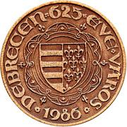 Debrecen is 625 years old city – reverse