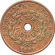 1 Rupee - Victoria (Prison Token) – reverse