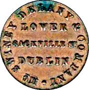 Farthing - Lower Sackville St Dublin – obverse