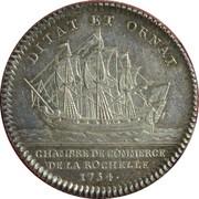 Chamber of commerce La Rochelle - Louis XV – reverse