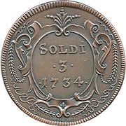 3 Soldi  - Gorizia 1734 (Restrike) – obverse