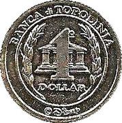 1 Dollar - Banca di Topolinia – reverse