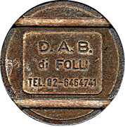 Token - D.A.B. di Folli – obverse