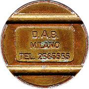 Token - D.A.B. Milano – obverse